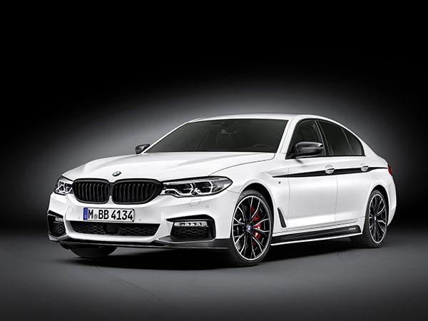 BMW Serie 5 con accesorios M Performance frontal - PUNTA TACÓN TV