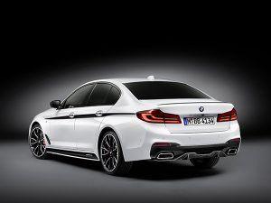 BMW Serie 5 con accesorios M Performance trasera - PUNTA TACÓN TV
