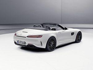 "Nuevo Mercedes-AMG GT C Roadster ""Edition 50"" designo blanco Cachemira magno trasera - PUNTA TACÓN TV"