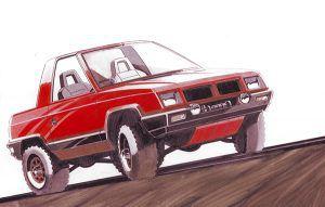 Mitsubishi Pajero II concept sketch (1979) - PUNTA TACÓN TV