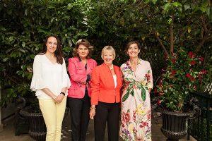 Sara Soria (Jurado WWCOTY), Belén de Lacalle (Directora de Comunicación JLR), Sandy Myhre (Fundadora WWCOTY), Marta García (Jurado WWCOTY) - PUNTA TACÓN TV
